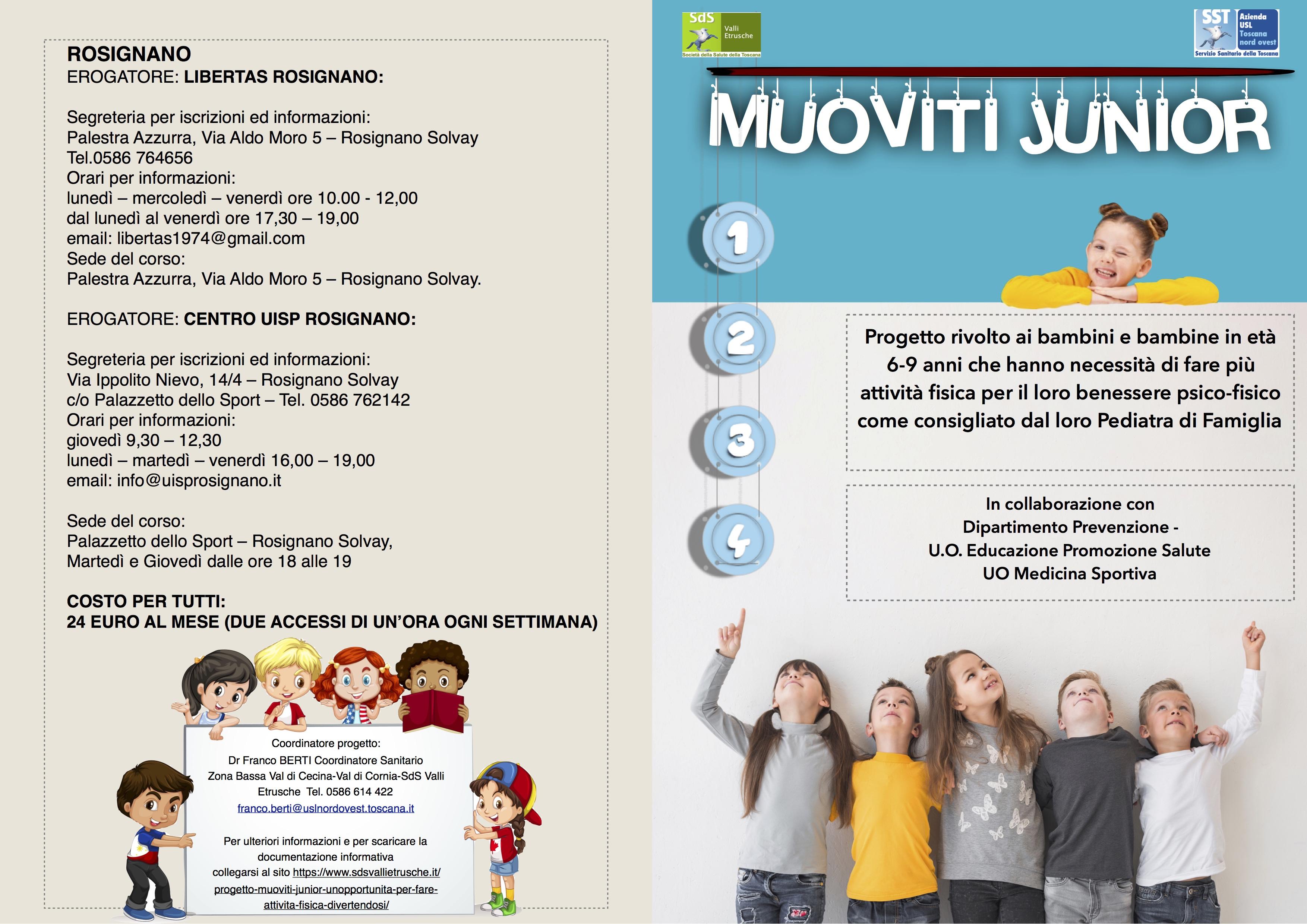 Progetto Muoviti Junior Un Opportunita Per Fare Attivita Fisica Divertendosi Consorzio Societa Della Salute Valli Etrusche